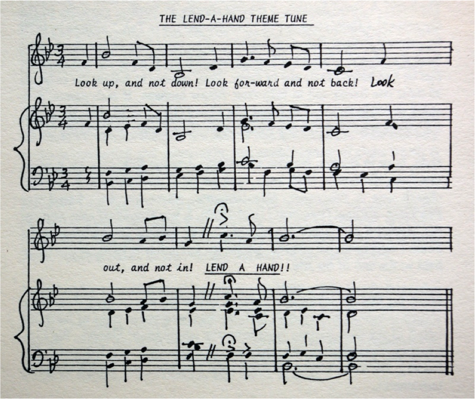 100th Birthday Celebration Hymn: Hal Barrett set the mottoes to music in 1992
